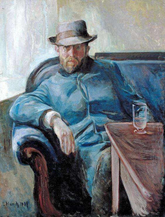 نقاشی مونک پرتره هانس یاگر