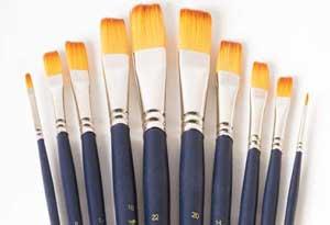 انواع قلم موی نقاشی
