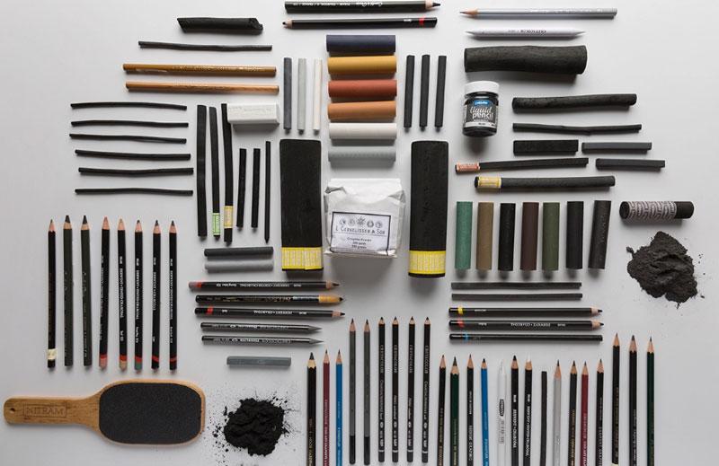 انواع مداد ها و ذغال های طراحی