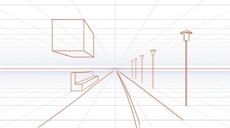 خطوط گریز در پرسپکتیو