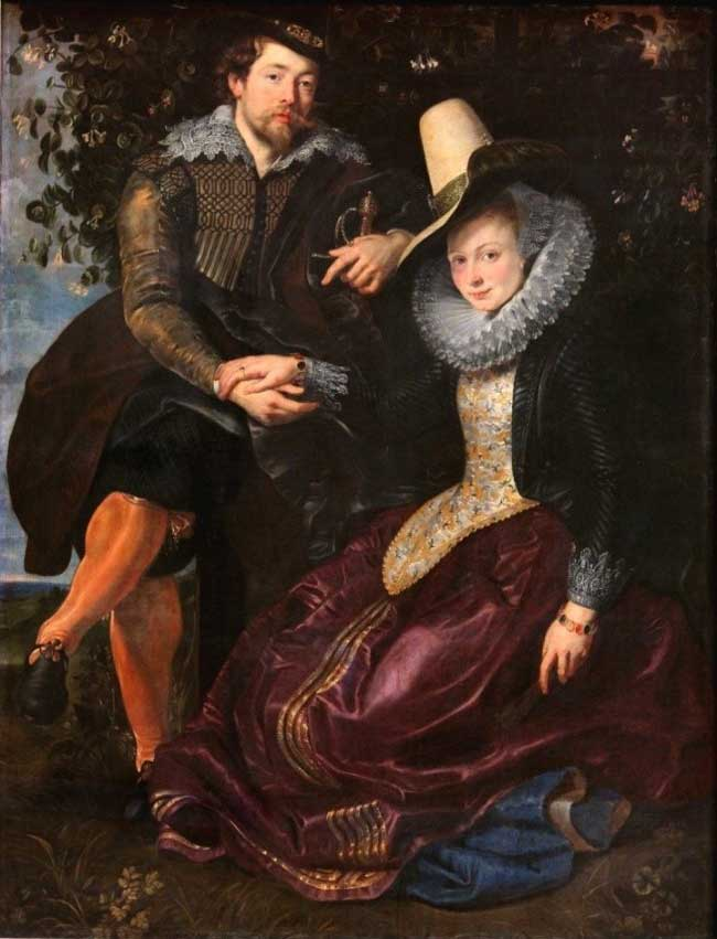 روبنس و همسرش