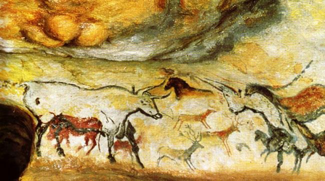 یک نقاشی از غارهای لاسکو