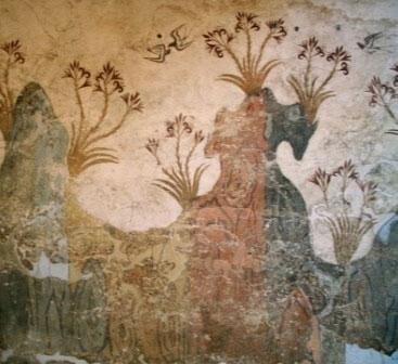 نقاشی فرسک مربوط به یونان باستان