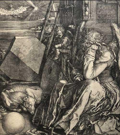 مالیخولیا  چاپ اچینگ اثر آلبرشت دورر