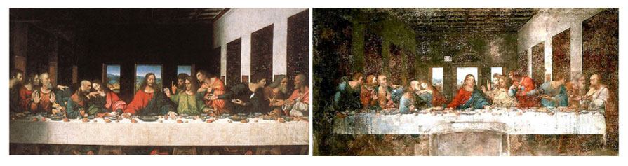 شام آخر لئوناردو قبل و بعد از مرمت