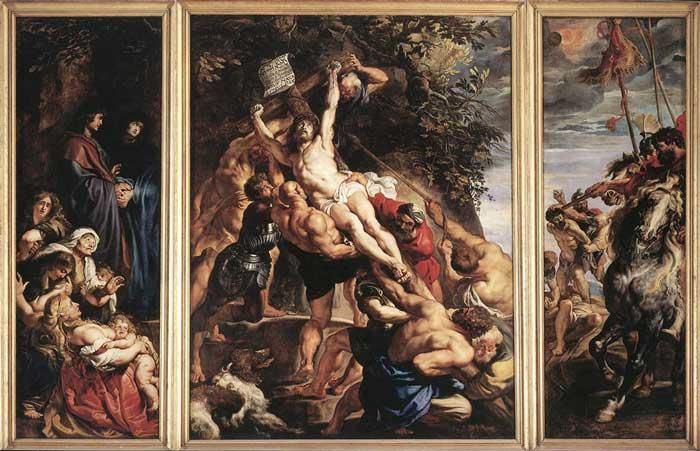 بالا کشیدن بر صلیب اثر روبنس