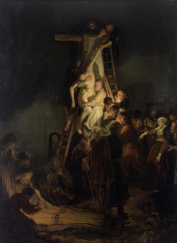 فرود از صلیب اثر رامبراند