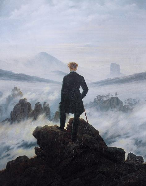 سرگردان بر فراز دریای مه اثر کاسپار داوید فریدریش