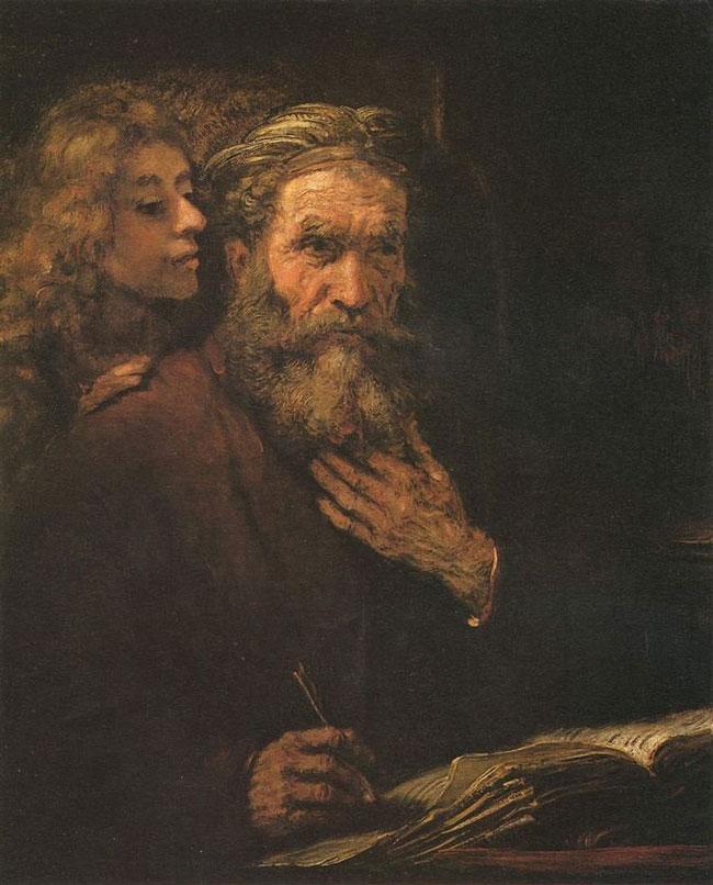سنت ماتئو و فرشته اثر رامبراند