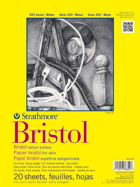 دفترچه بریستول استرس مور سری 300، نوع Vellum Surface