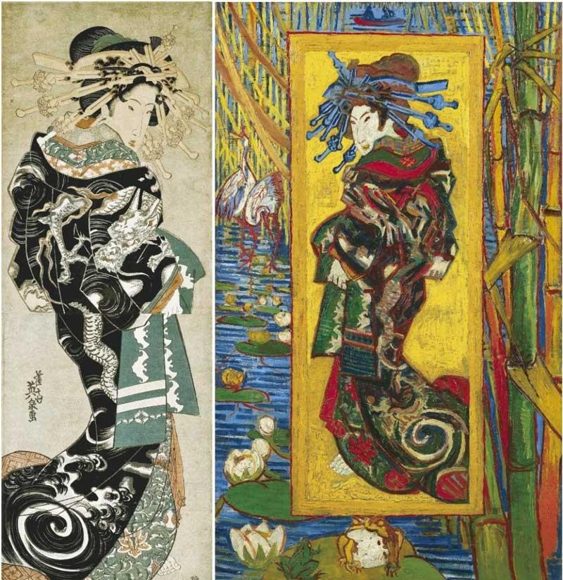 تاثیر نقاشی ژاپنی بر روی ونگوگ