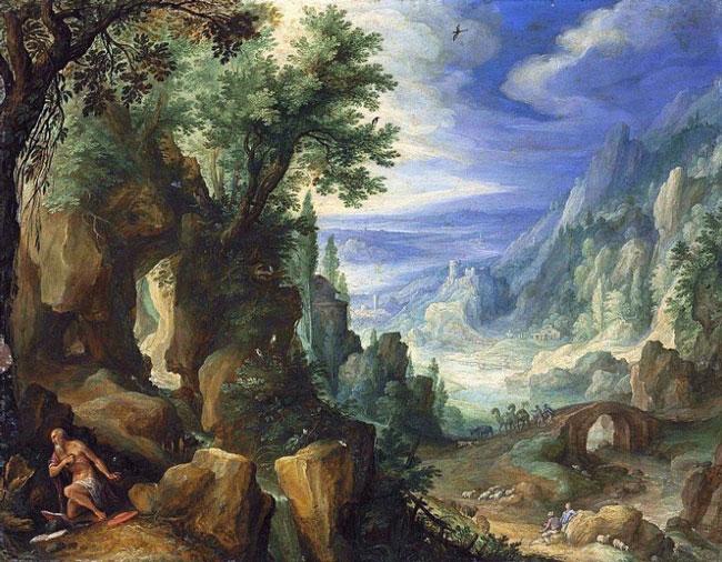 ایک اثر در سبک Veduta از پل بریل