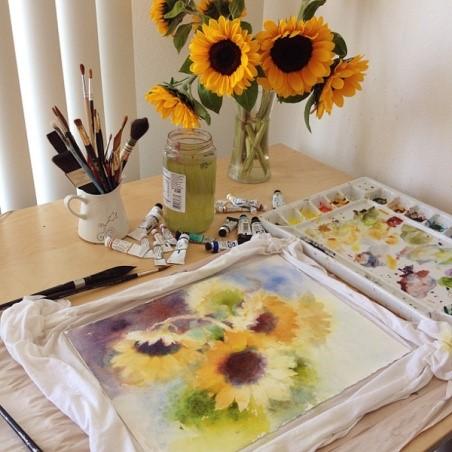 میز کار نقاشی آبرنگ