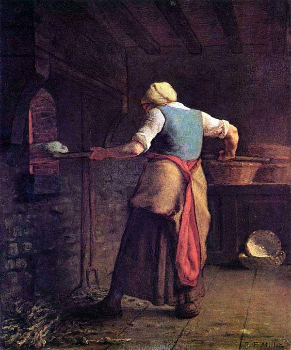 نقاشی زن نانوا اثر میله