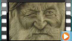 طراحی چهره، اجرا توسط آقای فرزین کهکشان هنرجوی دوره طراحی پیشرفته