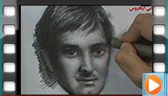 طراحی چهره، اجرا توسط هنرجوی دوره طراحی مقدماتی