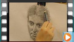 طراحی چهره از مدل زنده،  تکنیک: مداد طراحی