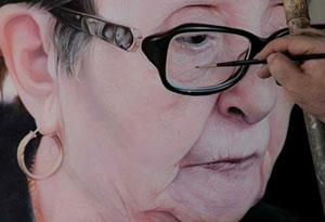 آموزش نقاشی چهره با رنگ روغن