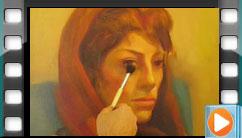نقاشی چهره از مدل زنده