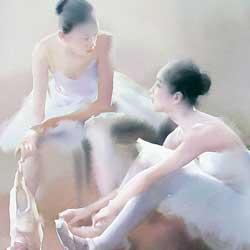 بالرین ها، آبرنگ، اثر لیو یی