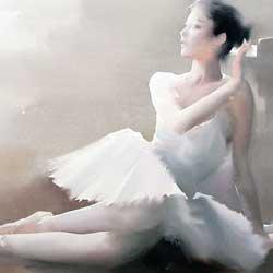 نقاشی با موضوع بالرین، لیو یی