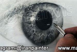 آموزش طراحی سیاه قلم چشم با مداد