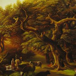 نقاشی رنگ روغن منظره