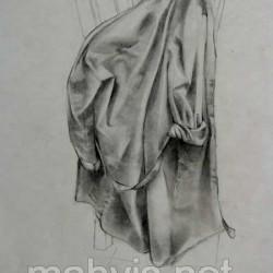 طراحی از پارچه لباس
