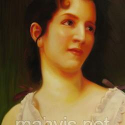 نقاشی چهره رنگ روغن