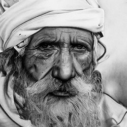 چهره پیر مرد