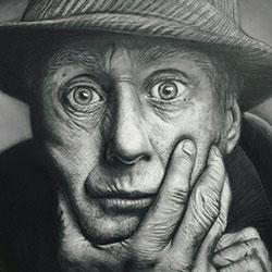 طراحی چهره با ذغال