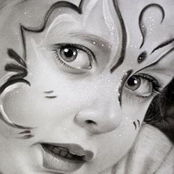 سیاه قلم طراحی چهره