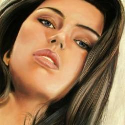 نقاشی چهره با پاستل