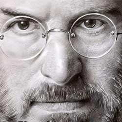 طراحی چهره استیو جابز
