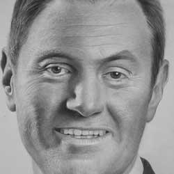طراحی با مداد از چهره دارن هاردی
