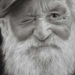 طراحی چهر پیر مرد