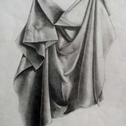 طراحی پارچه با مداد