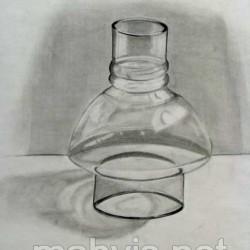 طراحی از شیشه با مداد