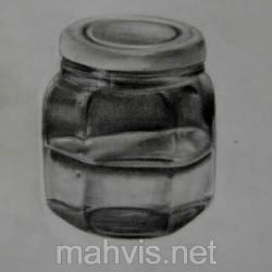 طراحی از ظرف شیشه ای